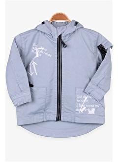 Jack Lions Erkek Çocuk Mont Fermuar Detaylı Açık Mavi